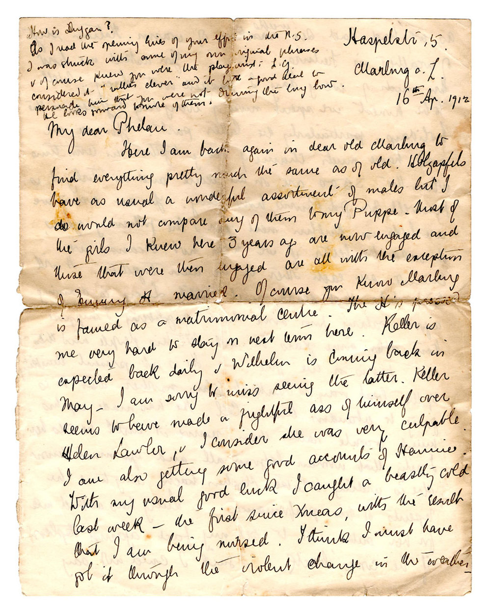 Marburg Letter page 1