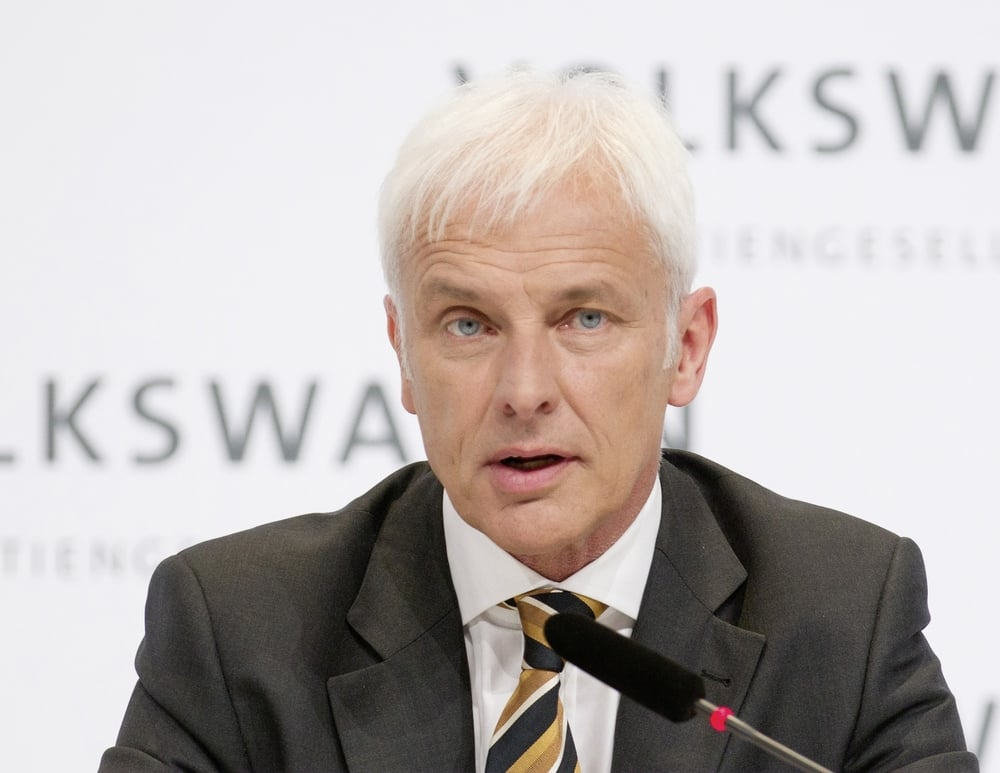 Matthias Muller, CEO of Volkswagen. Image: Wikimedia. CC BY 3.0