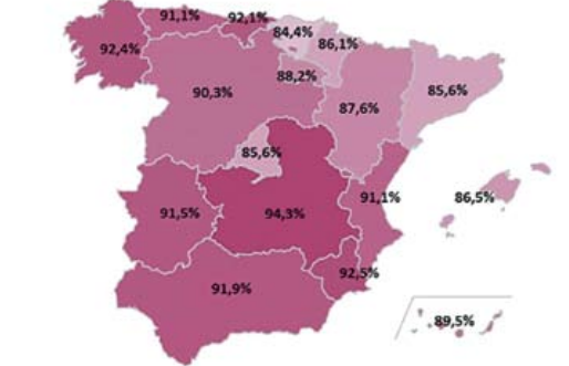 Percentage of businesses in Spain which were family-owned in 2013, by Autonomous Region.
