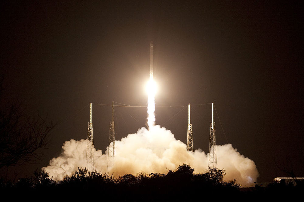 The launch of a Space X rocket. One way to spend your money. Image:NASA/Jim Grossmann