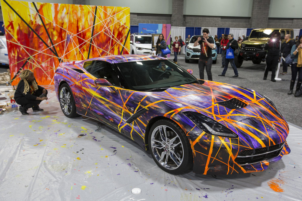 A General Motors Corvette Stingray at the Washington DC Auto Show. The Mansour family's first big deal was with GM. Image: © General Motors/Mark Finkenstaedt.