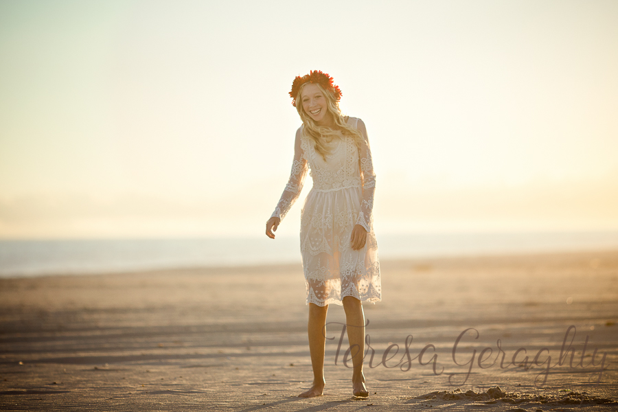 Long Island stylized Boho Senior portrait session