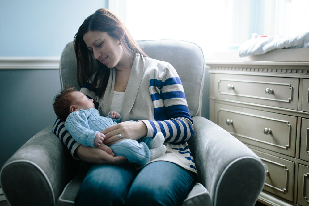 Long Island in home newborn photos