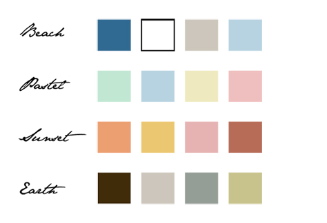 Color Palette for spring photo session