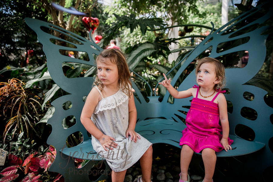 toddlers at Butterfly museum Key West