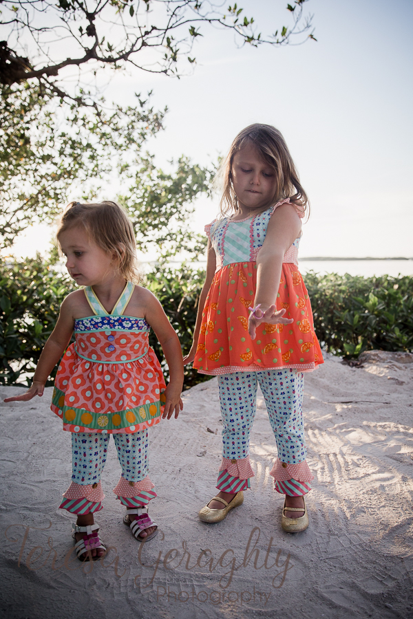 toddlers in Matilda Jane in Islamorada