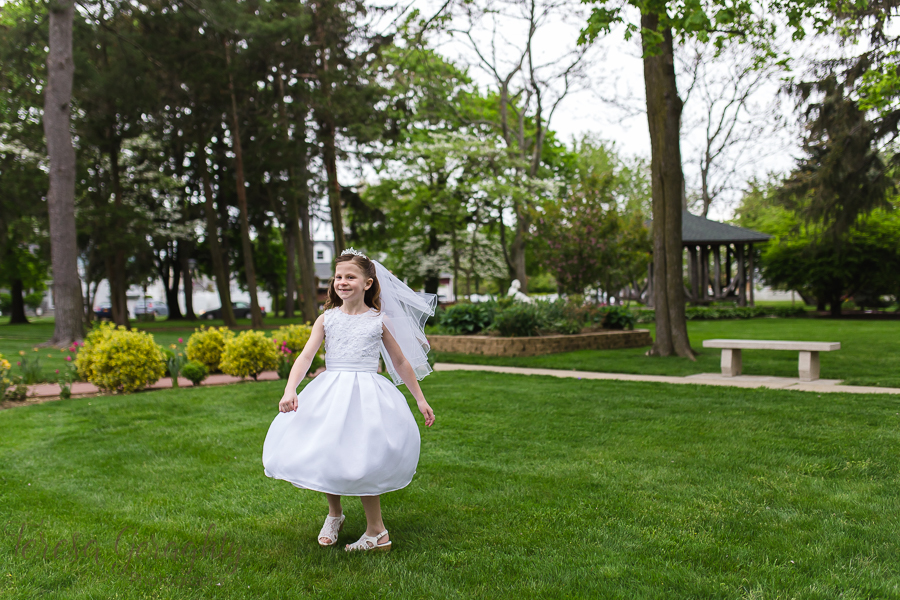 Long Island First communion portrait photographer