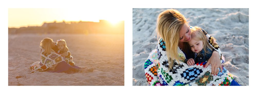Long Island Beach Sunset Family photographer