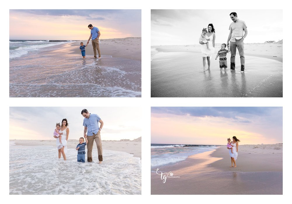 long island sunset beach family photographer