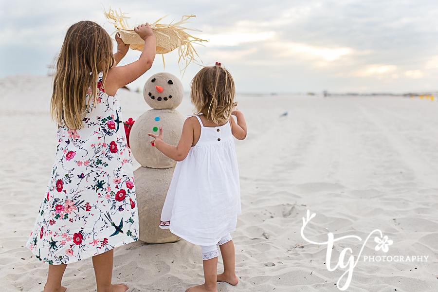 Long island beach children's photographer for holiday photos