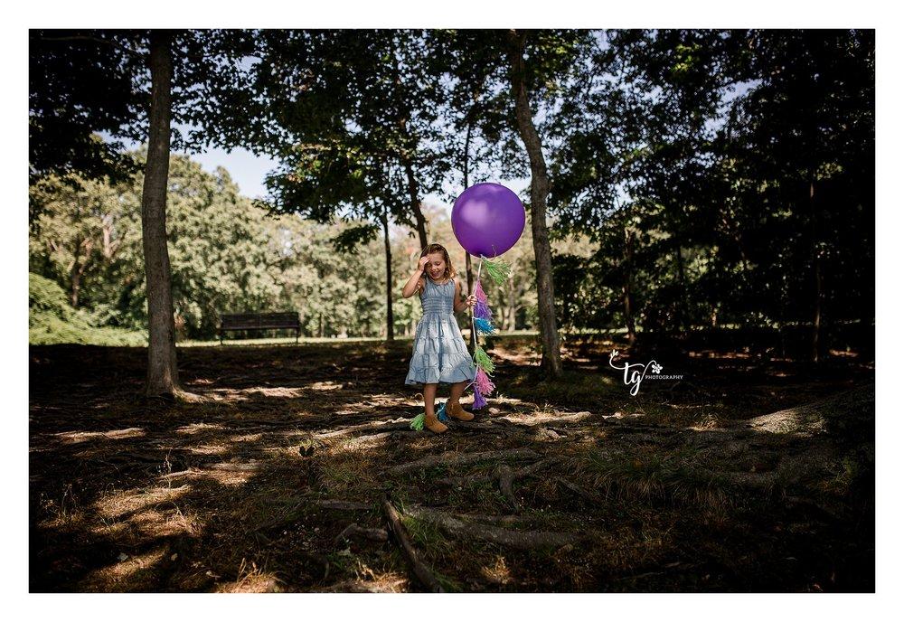outdoor children's birthday photography