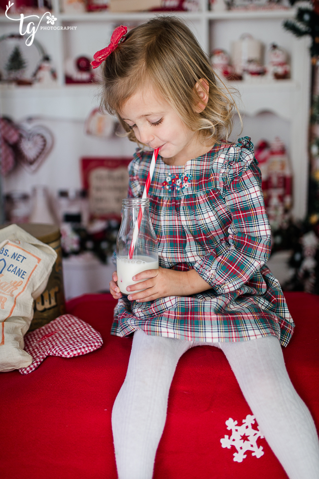 vintage themed holiday photo session for kids