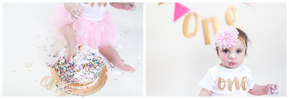 cake smash photographer in studio