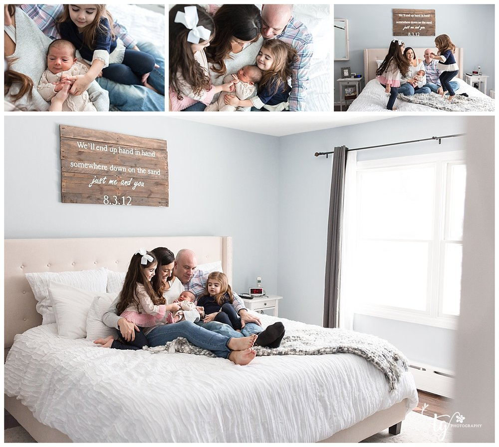 bright and airy in home newborn session