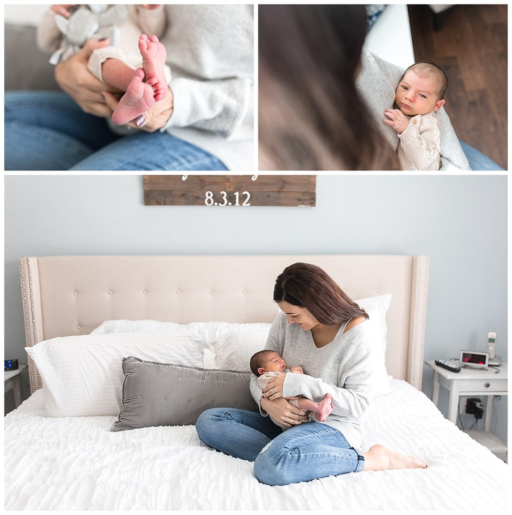 relaxed and cozy newborn photos taken in your home