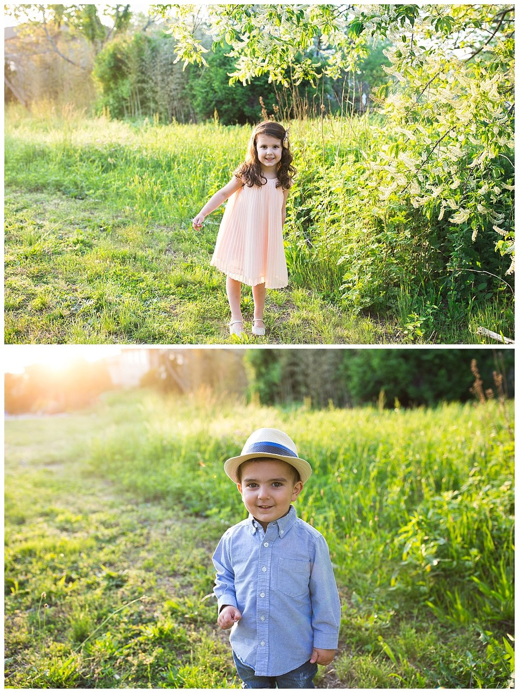 sunset family photo session