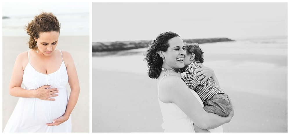 maternity beach photo session