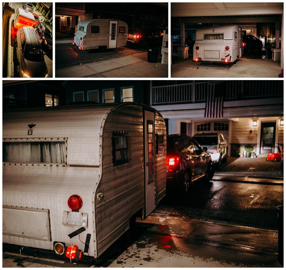 playmor camper backing into tight driveway