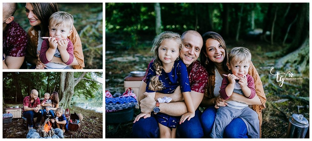 campfire holiday mini session