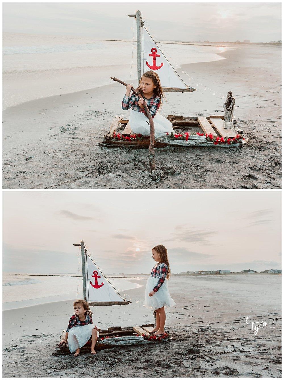 beach Christmas photo session