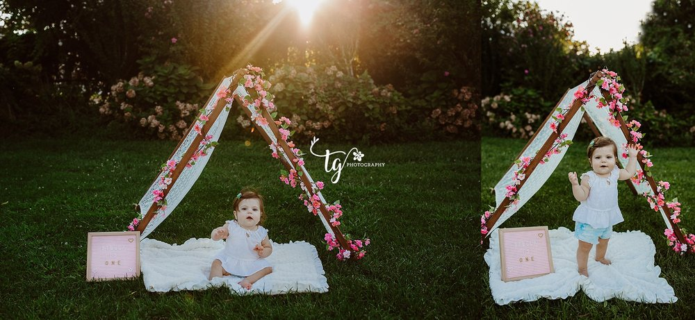 Boho styled first birthday session