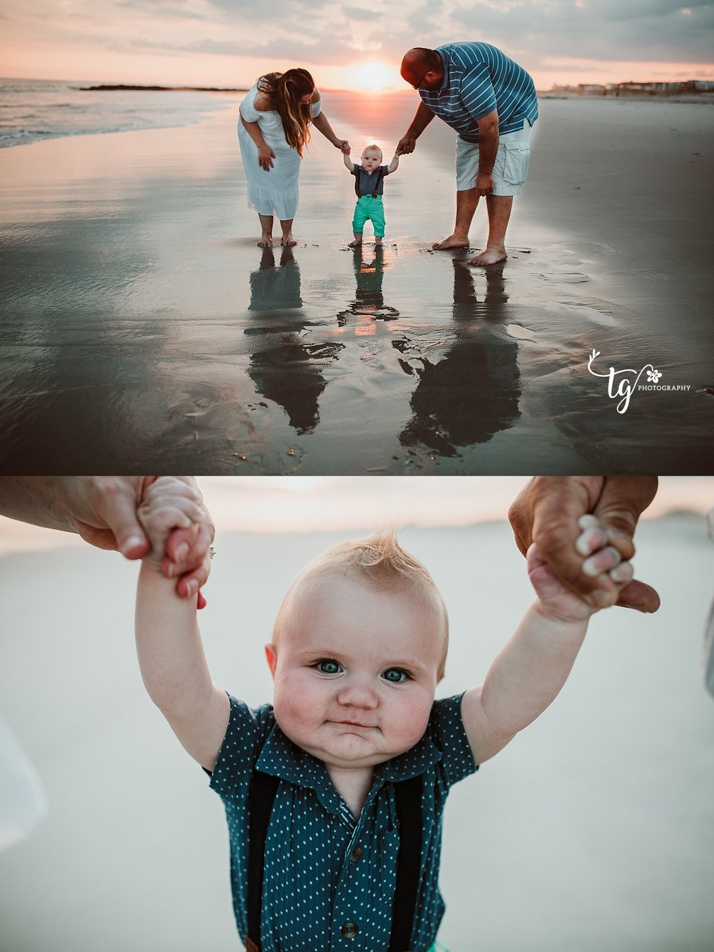 Beach Sunset family photographer