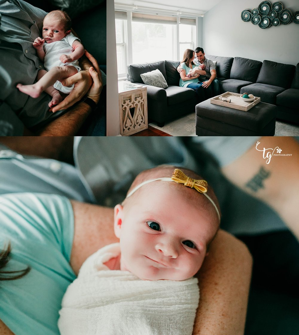 Photographer for natural newborn sessions in home