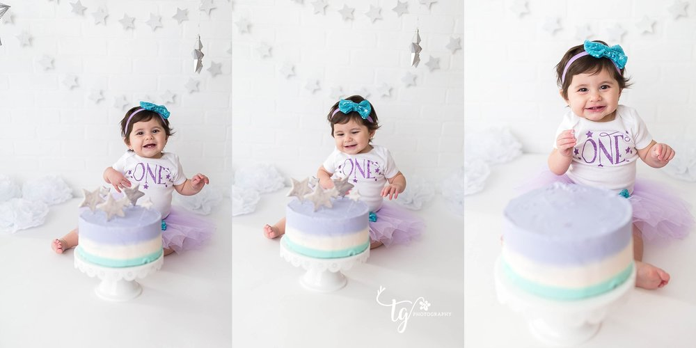simple cake smash photo session