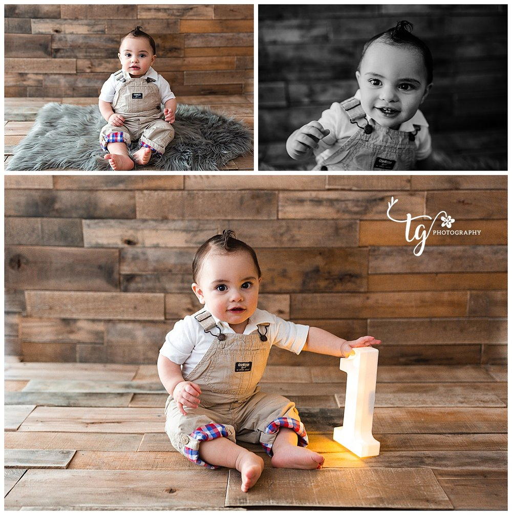 classic and simple first birthday photos