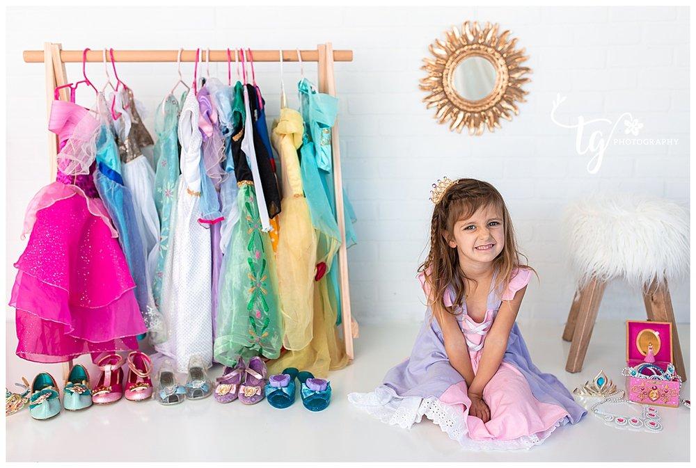 princess birthday photo session