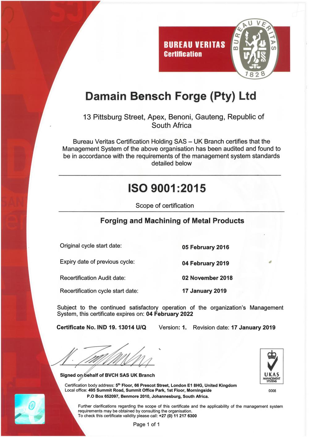 Final Cert - Damain Bensch Forge - Exp 04 February 2022.png