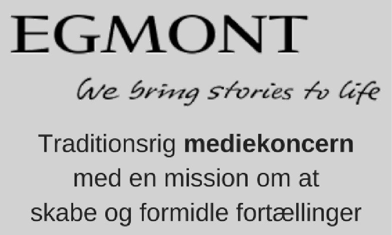 Online marketing for Egmont