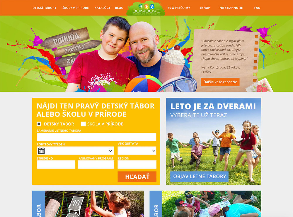Bombovo Web design