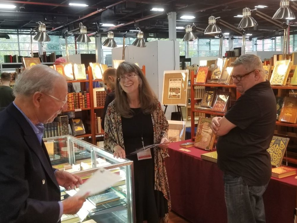 Adrienne Kitts at the Brooklyn Antiquarian Book Fair