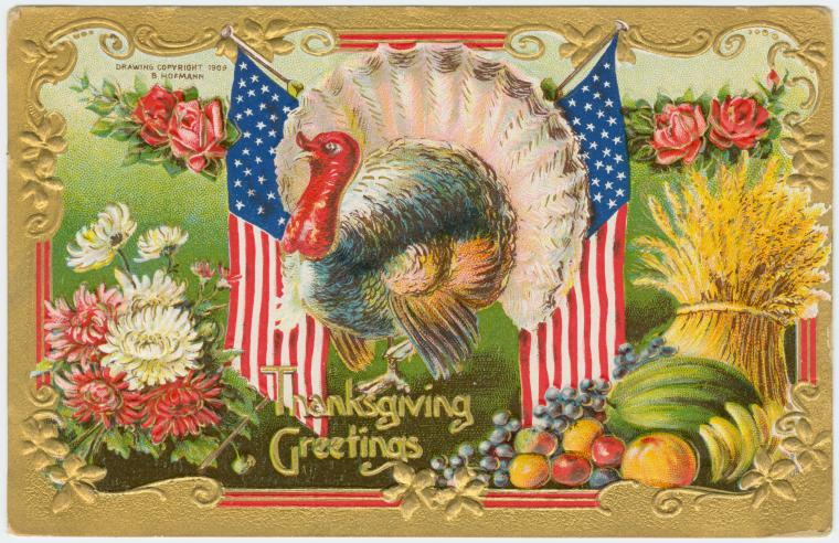 Thanksgiving Greetings, 1909 by B. Hofmann