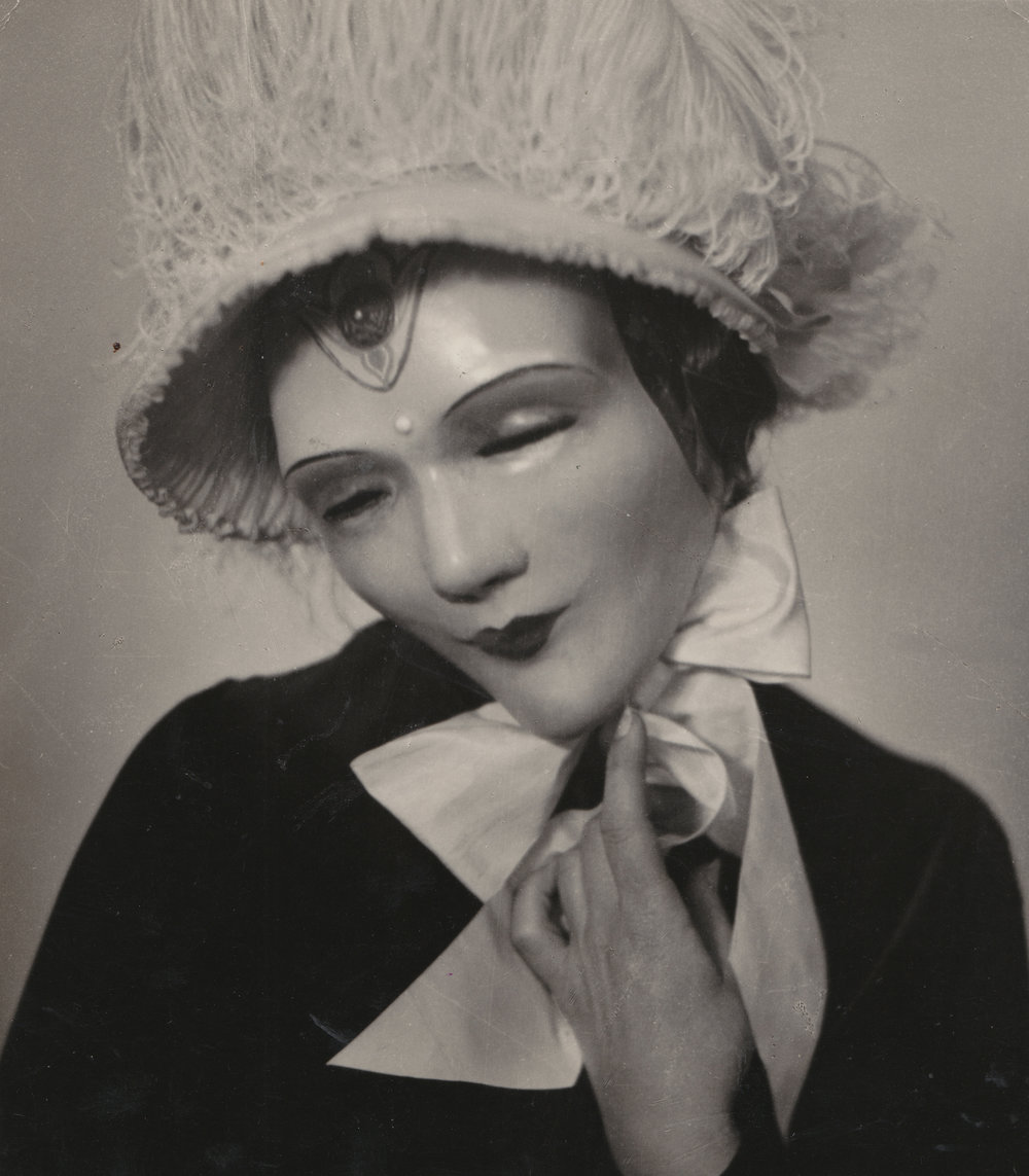 "Wiilliam Mortensen (1897 - 1965). ""Untitled (Woman with Mask)"", circa 1924 - 1926 Photograph Courtesy of Stephen Romano Gallery"