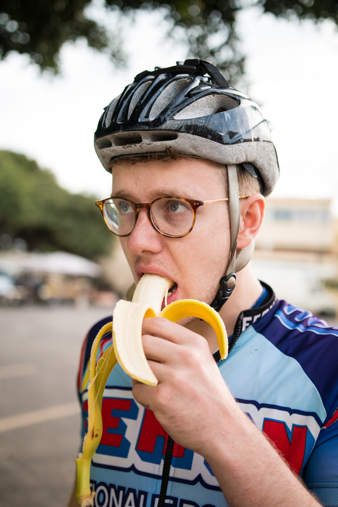 © Harry Crotty: Second breakfasts were essential. We consumed more bananas than a hungry monkey at a birthday party.