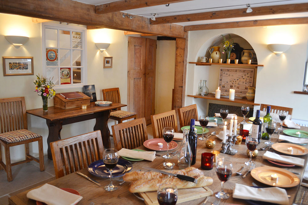 all our guests love being catered for in our large dining room - ideal for memorable family occasions