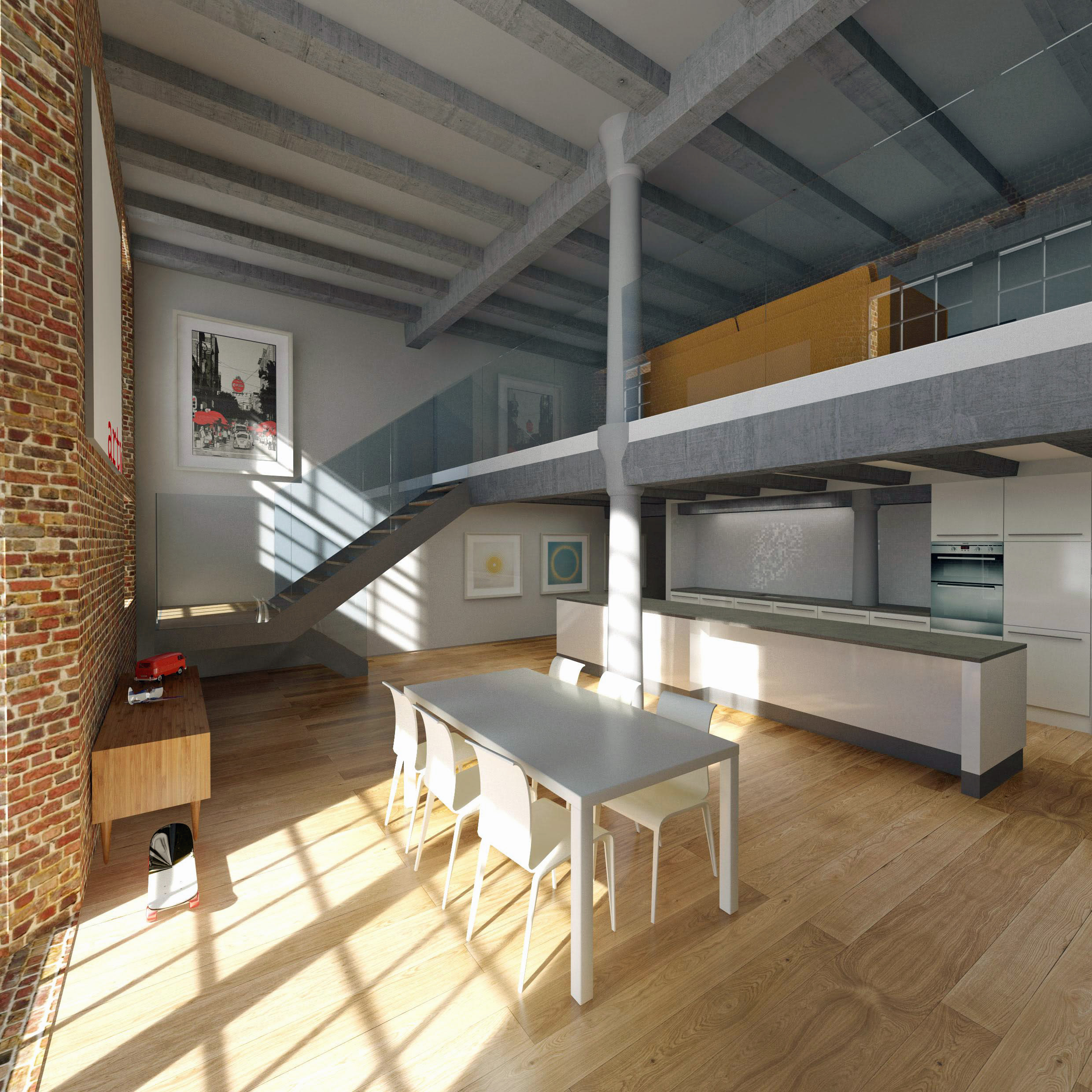 Apartments Interior Tobacco Warehouse 2016