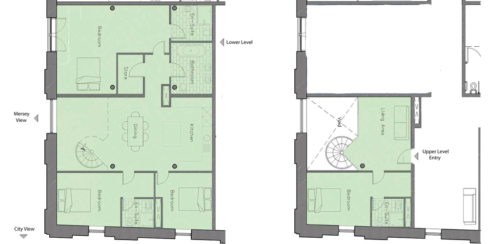 Indicative corner unit floor plan - 185 sq.m. - Tobacco WareHouse