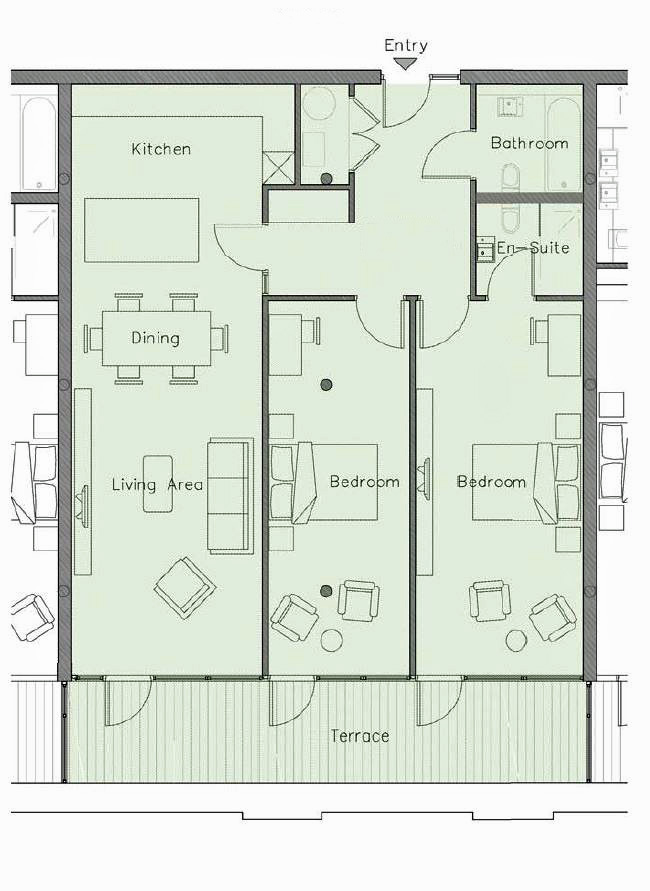 Indicative Penthouse floor plan - 100-158 sq.m. - Tobacco WareHouse