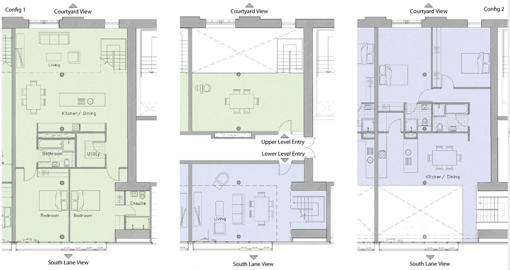 Indicative south lane floor plan - 90-170 sq.m. - Tobacco WareHouse
