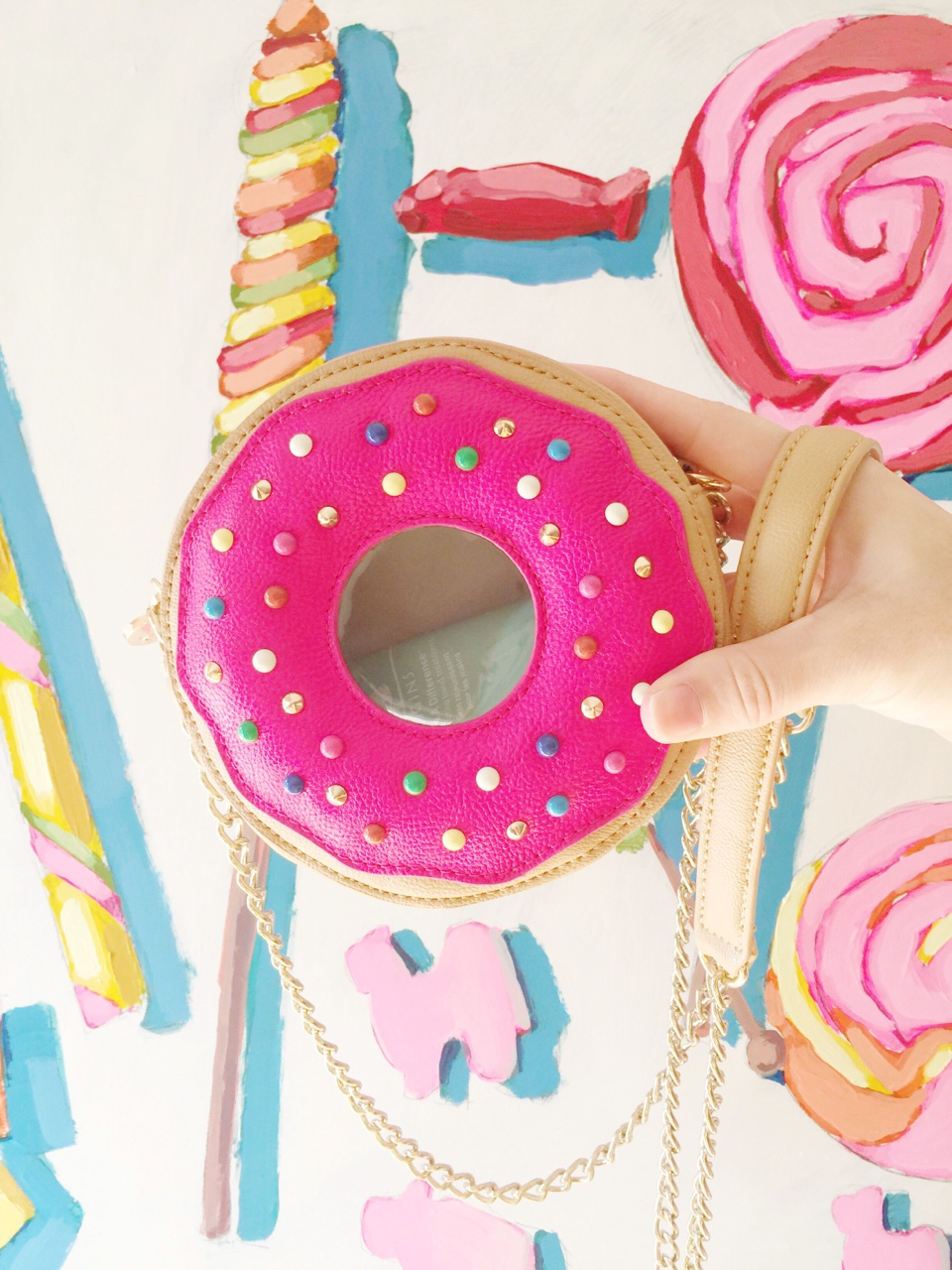 donut bag by  betsey johnson .