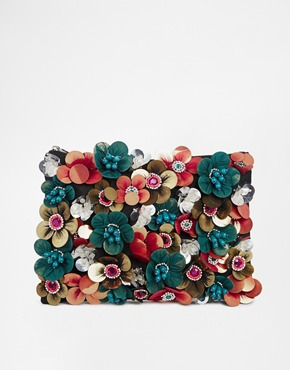 ASOS Clutch Bag With Flower Embellishment  @Asos