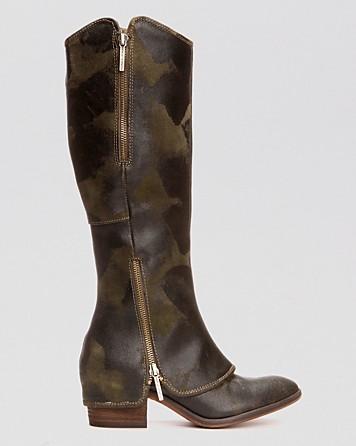 camo boot!!!! Donald J Pliner Tall Flat Pant Boots Devi3 @Bloomingdales