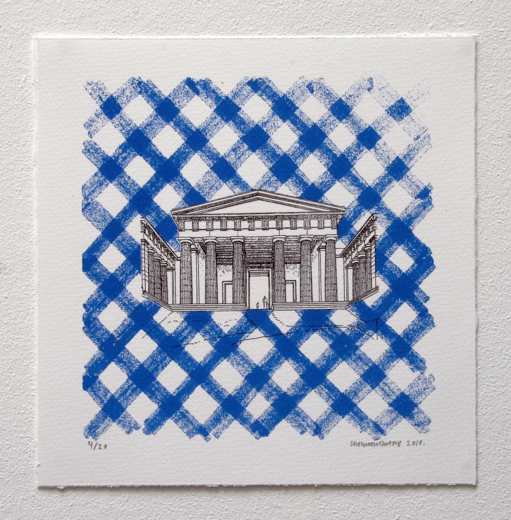 Untitled (Plaid Building Blue) (2010)