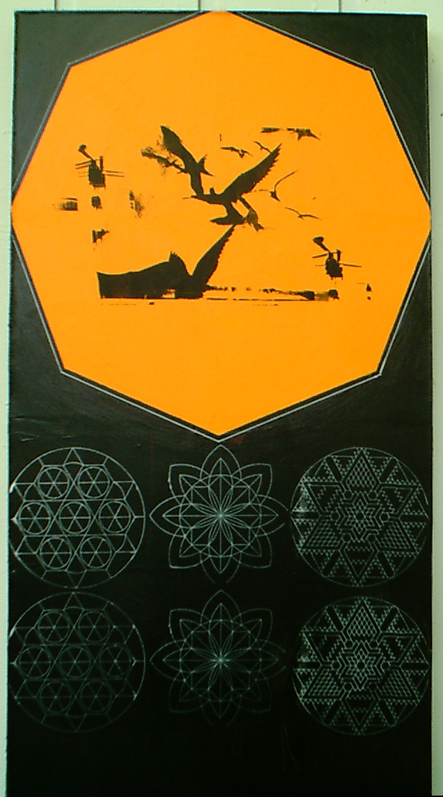 Untitled (Orange Octagon) - 2001