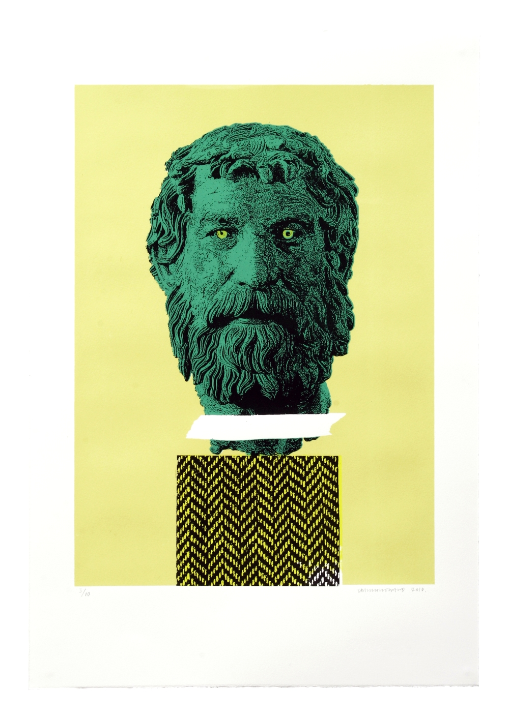 Untitled (Green Greek Head)