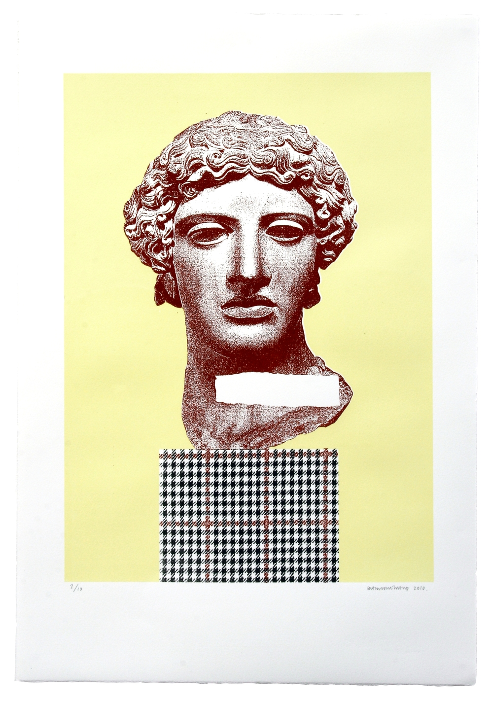 Untitled (Purple Greek Head)