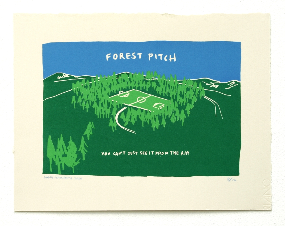 Untitled (Forest Pitch Print) (2010)